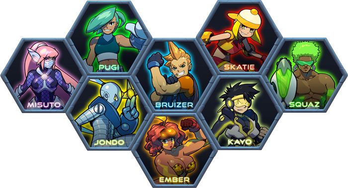 There are a variety of characters, each with their own combat style